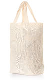Fabric natural canvas bag on white Royalty Free Stock Photography