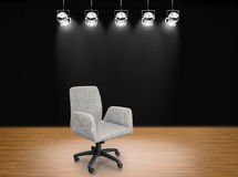 Fabric office chair. On stage background Stock Image