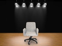 Fabric office chair. On stage background Stock Photo