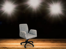Fabric office chair. On stage background Royalty Free Stock Photos
