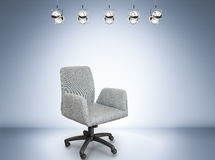 Fabric office chair. On stage background Royalty Free Stock Image