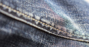Fabric on a pair of jeans Stock Images