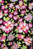 Fabric pattern. Colorful flowers on fabric pattern Stock Photo