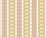 Fabric Pattern. A design with six vertical, patterned, columns on a pale background Royalty Free Stock Image