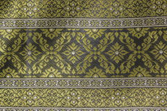 Fabric pattern. Close up of thai fabric pattern Royalty Free Stock Images
