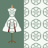 Fabric pattern design for a woman's dress. Perfect for printing on fabric or paper. Royalty Free Stock Photos