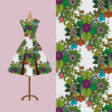 Fabric pattern design for a woman's dress. Perfect for printing on fabric or paper. Royalty Free Stock Photo