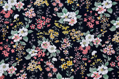 Fabric pattern with flowers  background Stock Images