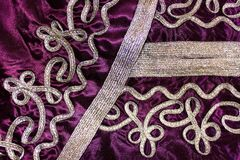 Fabric pattern on the Moroccan suit Royalty Free Stock Image