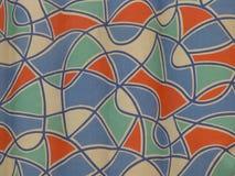 Fabric pattern in nostalgic retro style Royalty Free Stock Images