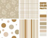 Fabric pattern set. Royalty Free Stock Photos