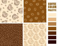 Fabric pattern set. Royalty Free Stock Photo