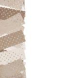 Fabric pattern on white background Stock Photos