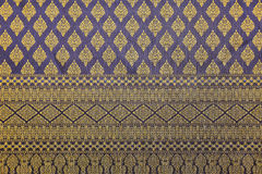 Fabric  patterned traditional thai style Royalty Free Stock Photography