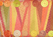 Fabric patterns and buttons Royalty Free Stock Photos