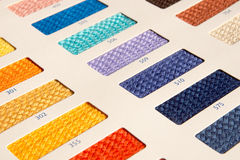Fabric patterns - color card Royalty Free Stock Images