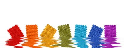 Fabric patterns in rendered water Royalty Free Stock Photos