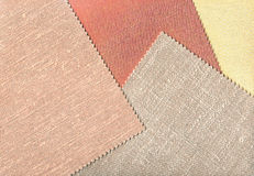 Fabric patterns samples. Royalty Free Stock Image