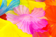 Fabric petal background Stock Photography