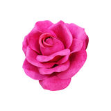 fabric pink rose isolated on white Royalty Free Stock Photography