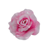 Fabric pink rose isolated on white background Royalty Free Stock Photos