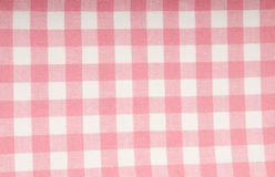 Fabric with pink and white pattern. Fabric with pink and white checked pattern Stock Photography