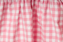 Fabric with pink and white pattern. Fabric with pink and white checked pattern Stock Photos