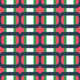 Fabric print. Geometric pattern in repeat. Seamless background with lines, stripes, geometric elements. Design for prints on fabrics, textile, surface, paper Royalty Free Stock Photos