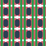 Fabric print. Geometric pattern in repeat. Seamless background with lines, stripes, geometric elements. Design for prints on fabrics, textile, surface, paper vector illustration
