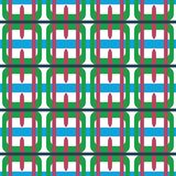 Fabric print. Geometric pattern in repeat. Seamless background with lines, stripes, geometric elements. Design for prints on fabrics, textile, surface, paper stock illustration