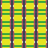 Fabric print. Geometric pattern in repeat. Seamless background with lines, stripes, geometric elements. Design for prints on fabrics, textile, surface, paper Royalty Free Stock Images