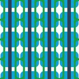 Fabric print. Geometric pattern in repeat. Seamless background with lines, stripes, geometric elements. Design for prints on fabrics, textile, surface, paper Royalty Free Stock Photography