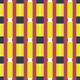 Fabric print. Geometric pattern in repeat. Seamless background with lines, stripes, geometric elements. Design for prints on fabrics, textile, surface, paper Royalty Free Stock Image