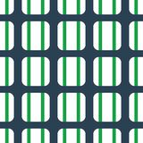 Fabric print. Geometric pattern in repeat. Seamless background with lines, stripes, geometric elements. Design for prints on fabrics, textile, surface, paper Stock Images