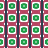 Fabric print. Geometric pattern in repeat. Seamless background with lines, stripes, geometric elements. Design for prints on fabrics, textile, surface, paper Stock Image