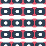 Fabric print. Geometric pattern in repeat. Seamless background with lines, stripes, geometric elements. Design for prints on fabrics, textile, surface, paper Royalty Free Stock Photo