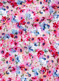 Fabric with printed flower pattern Stock Photography