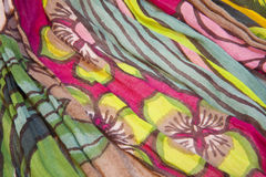 Fabric with printed flowers Royalty Free Stock Photography