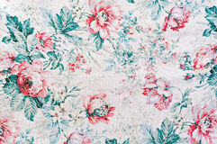 Fabric printed. With special flowers for funds Stock Photo