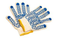 Fabric protective gloves Stock Images