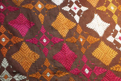 Fabric from punjab, the needlework Stock Image