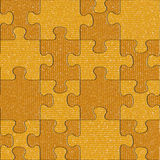 Fabric puzzles - seamless background - decorative pattern Royalty Free Stock Images
