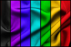 Fabric rainbow collage Royalty Free Stock Images