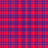 Fabric in red and blue fiber seamless pattern tartan. EPS10 stock illustration