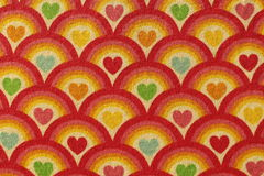 Fabric red heart pattern Stock Photos