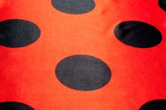 Fabric red polka dots. tissue, textile, cloth, fabric, material, texture. Fabric red polka dots, textile, cloth, fabric, material, texture. of or relating to stock image