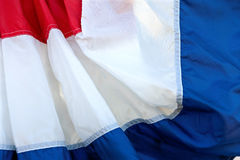 Fabric Of Red, White, And Blue Banner Fills Frame Stock Images