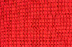 Fabric red wool background Royalty Free Stock Image
