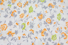 Fabric retro pattern with floral ornament Royalty Free Stock Photo