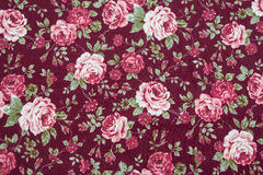 Fabric retro pattern with floral ornament Stock Photo